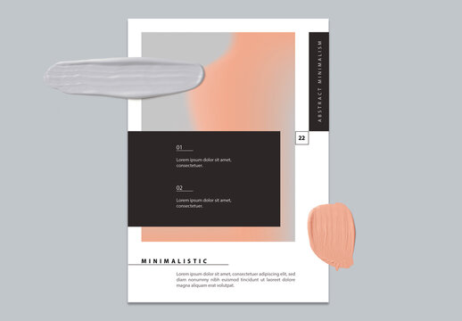 Abstract Modern Minimal Flyer Layout