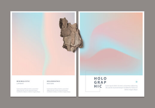 Abstract Minimal Holographic Flyer Layouts