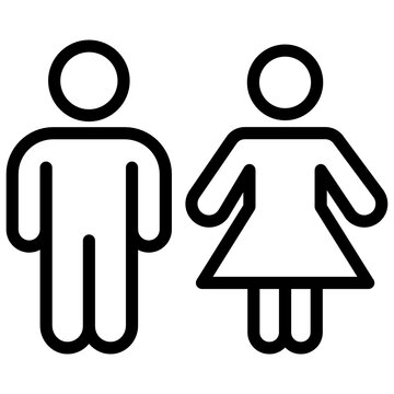 Couple icon in line pictograph