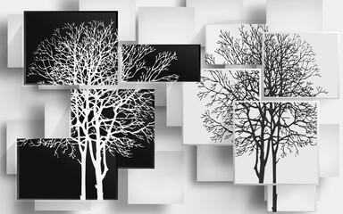Obraz three illustration 3d wallpaper design - fototapety do salonu