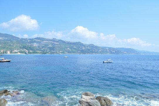 Mortola beach in Ventimiglia