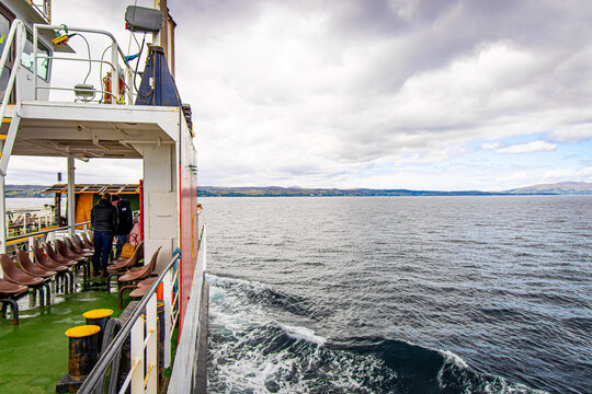 Ferry from Mallaig to Armadale in west coast of Highlands of Scotland