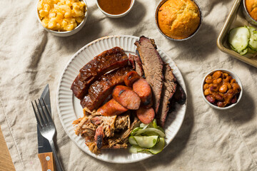 Wall Mural - Homemade Barbecue Platter with Ribs