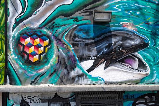 Murals of Wynwood district Miami city, Florida, USA