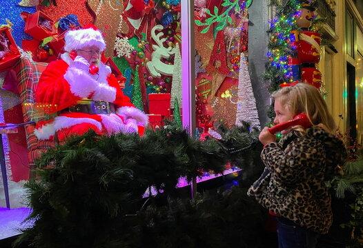Santa greets via telephone due to the coronavirus disease (COVID-19) pandemic in West Virginia
