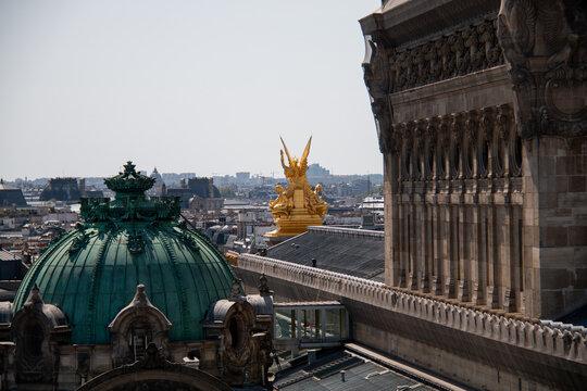 Paris panoramic view with Opera Garnier dome