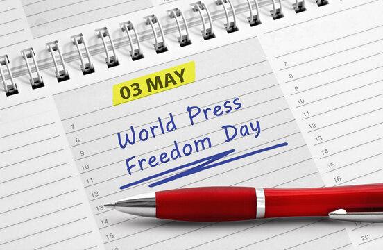 Note: Mai 3, World Press Freedom Day
