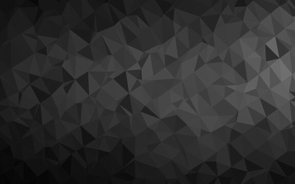 Dark Silver, Gray vector abstract polygonal texture. Colorful illustration in abstract style with gradient. Brand new design for your business.