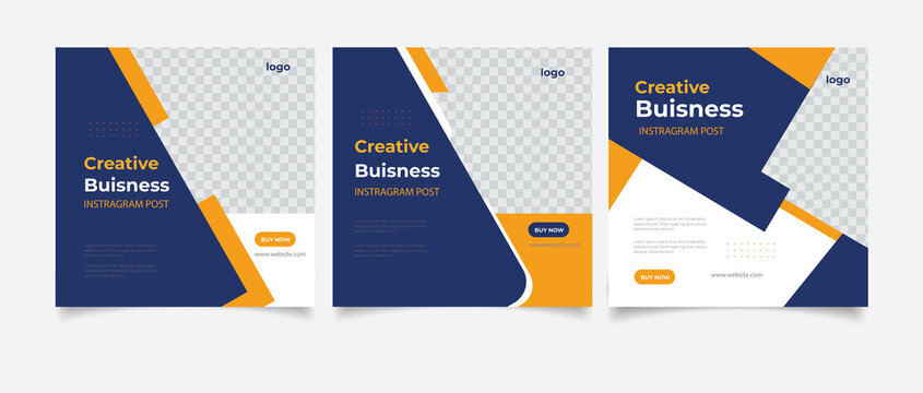 Creative business marketing banner for social media post template
