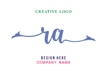 Fototapeta RA lettering logo is simple, easy to understand and authoritative obraz
