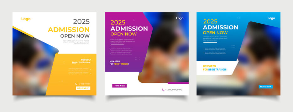 School education admission social media post and web banner template