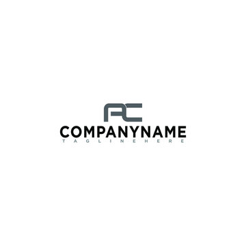 A Simple and elegant AC font logo that suits your business and uses the latest Adobe illustrations.