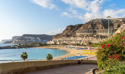 Wall Mural - Amazing landscape with Amadores beach on Gran Canaria, Spain