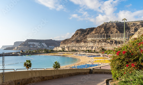 Wall mural Amazing landscape with Amadores beach on Gran Canaria, Spain