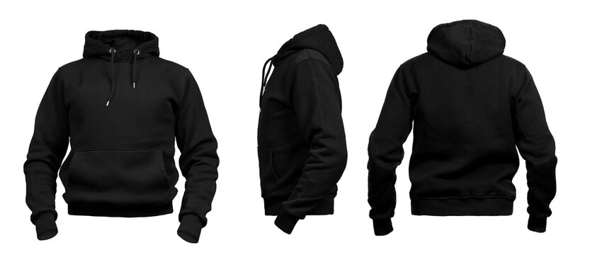 Blank invisible mannequin with black hoodie template for design mock up for print
