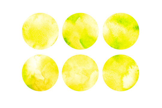 Yellow watercolor paper texture abstract background, elements for your design or logo