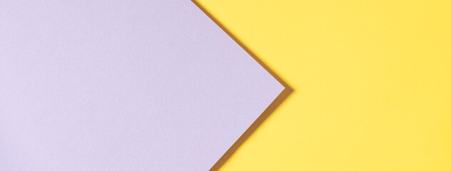 Abstract geometric paper background in yellow and gray colors. Trendy illuminating yellow and ultimate gray colours background