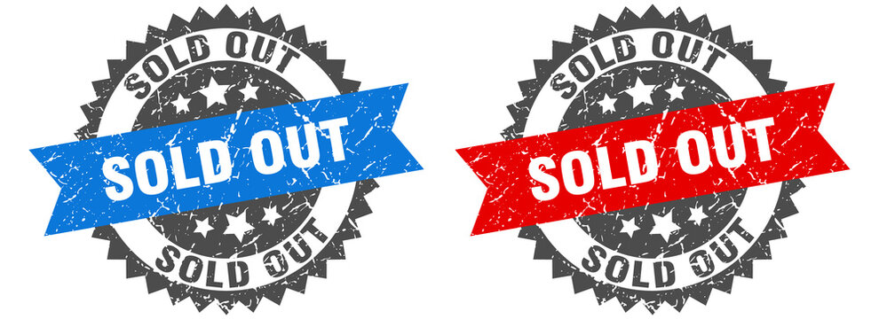 sold out band sign. sold out grunge stamp set