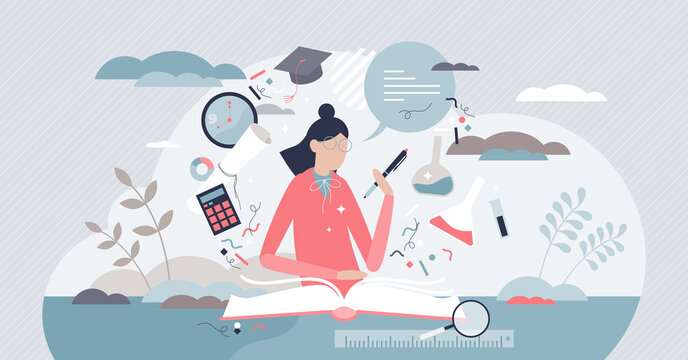 Studying process as learning knowledge from literature tiny persons concept