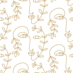 Abstract faces seamless pattern texture
