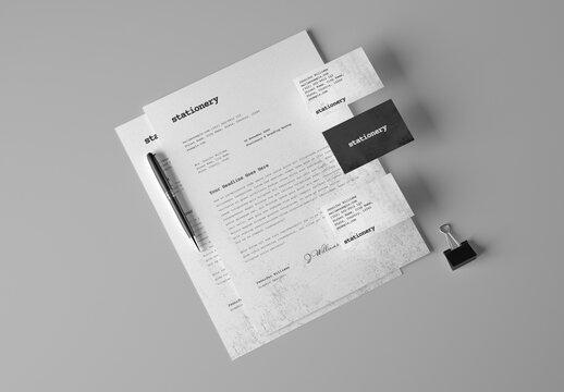 Simple Stationery Branding Mockup