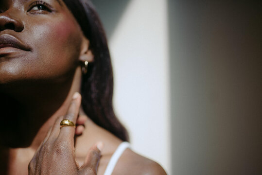 Beautiful African American Woman Natural Beauty Portraits