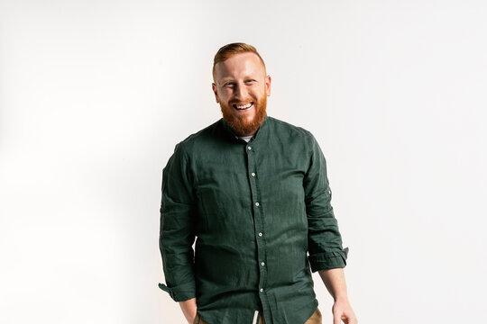 Portrait of Smiling Redhead Man