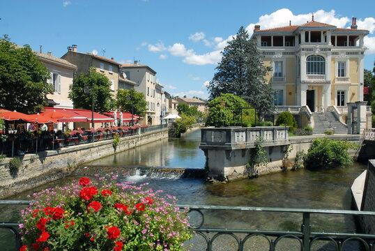 Ville de l'Isle-sur-la-Sorgue, département du Vaucluse, Luberon, France