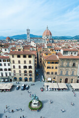 Fototapete - Aerial view of Florence, Tuscany, Italy