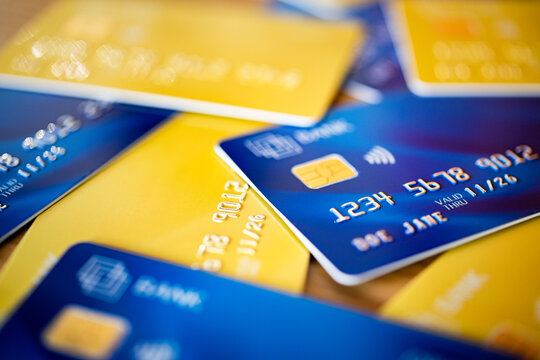 Group of credit cards