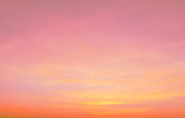 sky,Beautiful sunset sky,Pastel color pink and purple sky at sunset, Abstract fantasy aerial view pastel background, Pink sunlight on sweet colorful sky and purple cloud before sunset