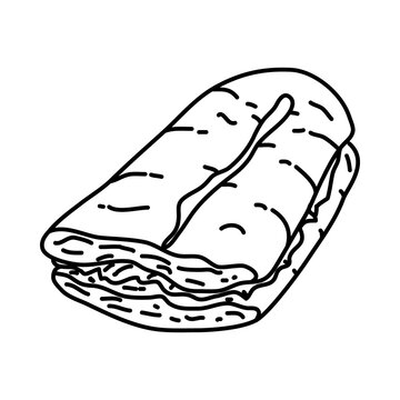 S'Mores Icon. Doodle Hand Drawn or Outline Icon Style