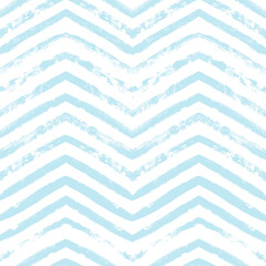 Chevron seamless vector pattern. Watercolor stripe kids background, Abstract zigzag blue print, Graphic modern striped texture, pastel lines backdrop.
