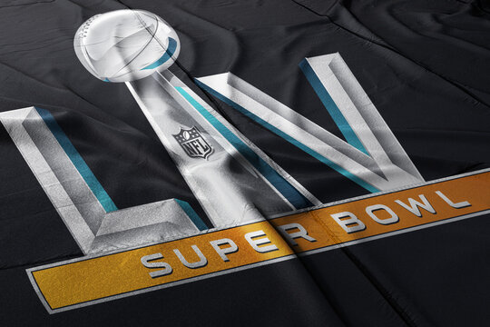 Illustrative editorial: Super Bowl 2021 LV logo
