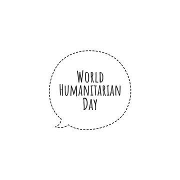 ''World Humanitarian Day'' Lettering