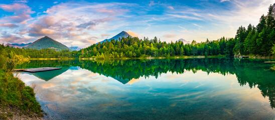 Alpsee lake in German Alps, Bavaria. Germany