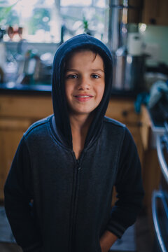Smiling Boy in Kitchen II