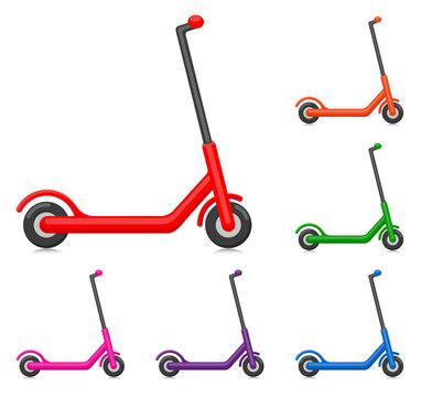 Vector kick scooter design illustration