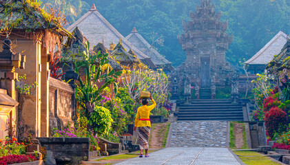 Penglipuran is a traditional oldest bali village at Bangli Regency - Bali, Indonesia
