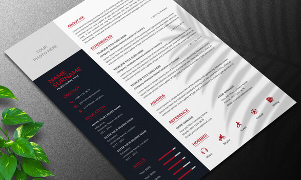 Minimalist Resume Layout and cover letter