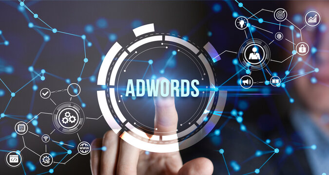 Internet, business, Technology and network concept.AdWords