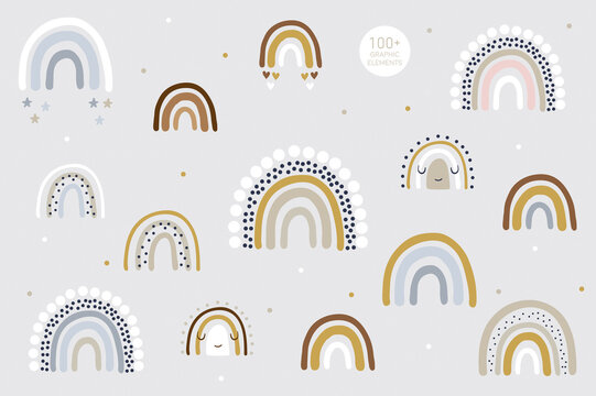 Rainbow pattern kids decor white background logo design background fashion wedding invitation christmas card retro christmas winter poster font wedding abstract christmas logo flyer brochure