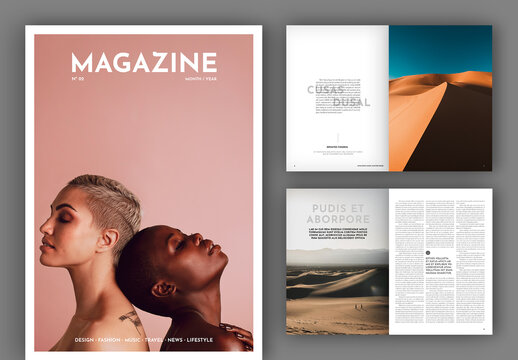Simple Magazine Layout