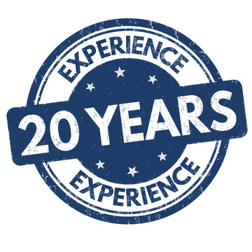 20 years experience sign or stamp