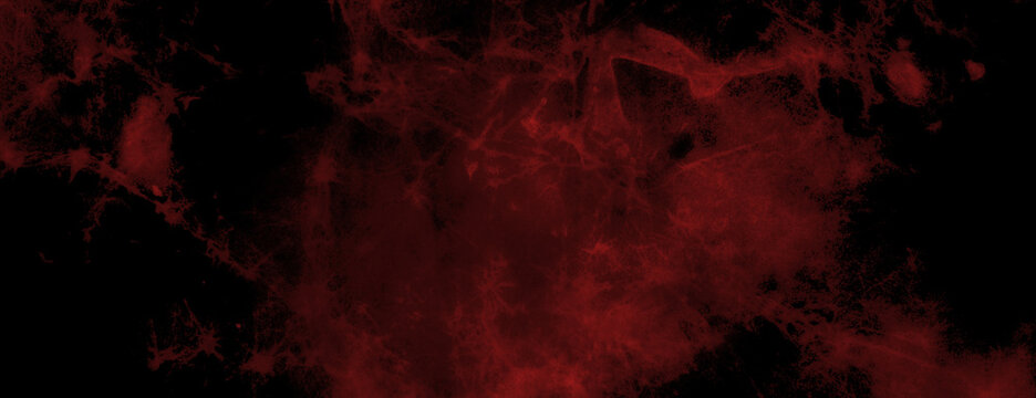 dramatic black and red marbled background texture with grunge streaks and cracks, old distressed dark color paper