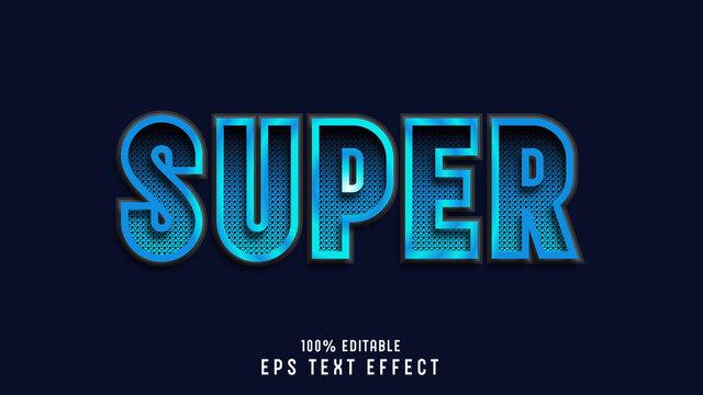 editable 3d modern text effect style