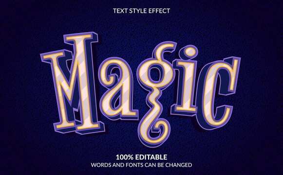 Editable text effect, Magic text style