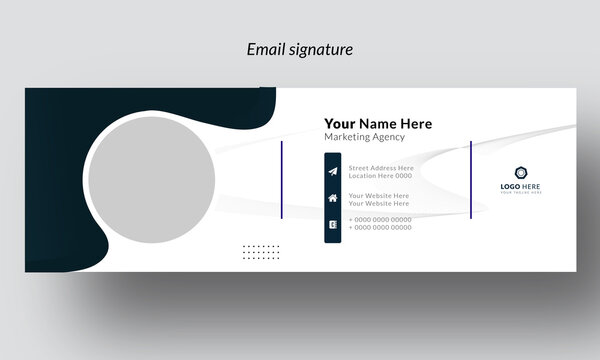 Corporate Email Signature Design Email signature template design. business email signature vector  creative banner