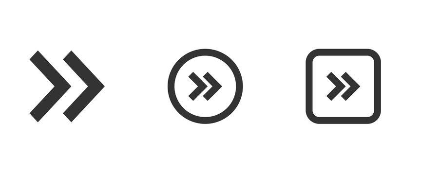 chevron double right icon . web icon set .vector illustration