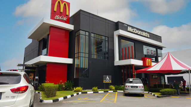 KEDAH,MALAYSIA - CIRCA MAY,2020 : View of McDonald's Restaurant with a drive thru in Alor Setar. McDonald's is an American fast food restaurant chain.